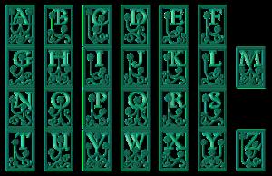 Kalligraphie Zeichen