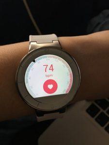 Pulsmesser bei der Smartwatch