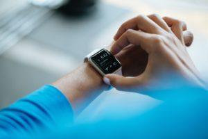 Schrittzähler bei der Smartwatch